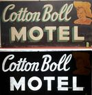 Motel sign with glowing smaltz letters