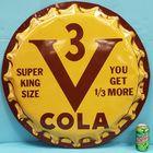 Bottle cap sign