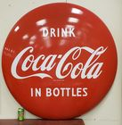 "48"" Porcelain Coca Cola Button Sign"