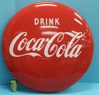 "36"" porcelain Coca Cola button"