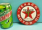"Porcelain 5"" Texaco lubester sign"