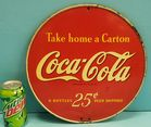 2 sided Coca Cola Rack sign