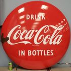 "48"" porcelain Coca Cola Button"