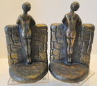 Copyright 1923 Nude Lady Bookends