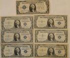 7 Silver Certificates $1