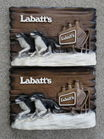 2Labatt's Beer Signs
