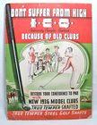 1936 True Temper Golf Club Sign