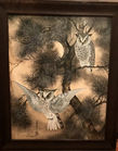 Watercolor owls Toshio Aoki