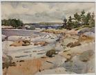 Charles Reid Maine watercolor