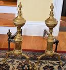 Older brass andirons