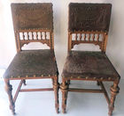 Tooled leather chairs