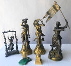 Gilt bronze and other figures