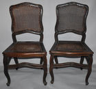 French style caned sidechairs