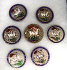 Lot 25 George III silver enamel medals