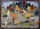 Lot 215 New England folk art rug