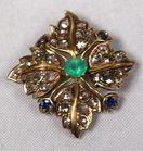 Lot 11B 18k diamond, sapphire, emerald