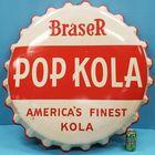 Pop Kola Bottle Cap Sign