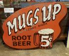 Large Mugs up Root Beer sign