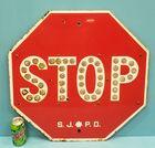 San Jose Police Dept. Stop sign