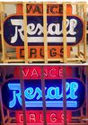 Double sided porcelain Rexall Neon Sign