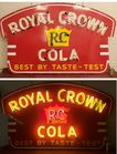 Porcelain Neon Royal Crown Cola Sign