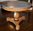 350. Birch French center table Charles x