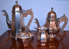 88. 4 pc tea sterling teaset