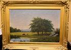 280. o/c Landscape pastoral sgn FMV 1860