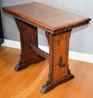 318. Antique inlaid joint table