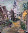 140 David Pollack village scene painting