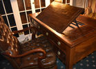Leather top desk and chair