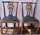 123 4 Antique Chippendale chairs