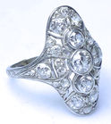 69. Ladies multidiamond ring