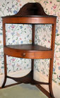 Antique corner washstand