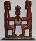 50. Red carved figural group