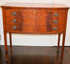 385. Inlaid mahog small server