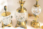 160. 3 Waterford lamps