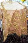 254. Gold metallic thread textile
