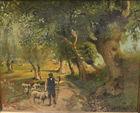 387. Shephard in landscape LL Stratton