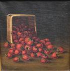 391. Strawberry still life o/c