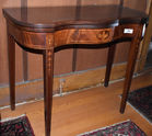 296. Inlaid card table