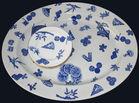 242. Blue and white platter