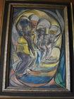 279. 2 African women paintings