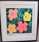 317. Andy Warhol '67 lithogr of flowers