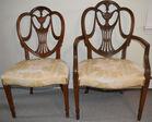 4. 6 Shieldback chairs