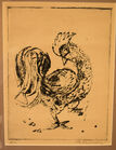 Candido Portinari etching rooster