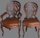 12 Vict chairs laminated backs