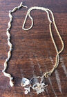 169. 14k gold necklaces w/charms