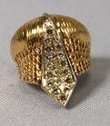 Lot #6 Gold diamond dome ring.