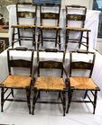 Lot 60 Set of six Hitchcock chairs